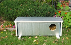 This is a great design for people that are handy- instructions can be found here: http://www.nycferalcat.org/CatWinterShelterBuild.pdf Also available for purchase in NYC.